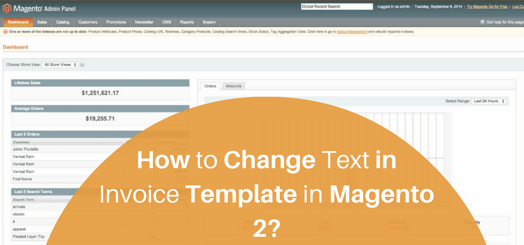 How to Change Text in Invoice Template in Magento 2?