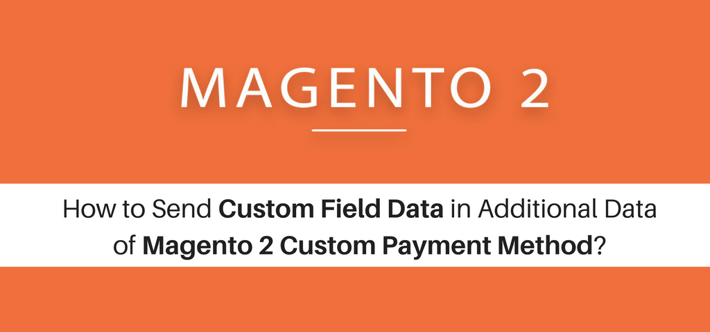 How to Send Custom Field Data in Additional Data of Magento 2 Custom Payment Method?