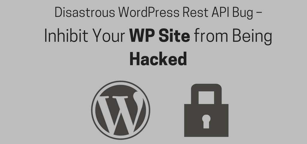 Disastrous WordPress Rest API Bug – Inhibit Your WP Site from Being Hacked