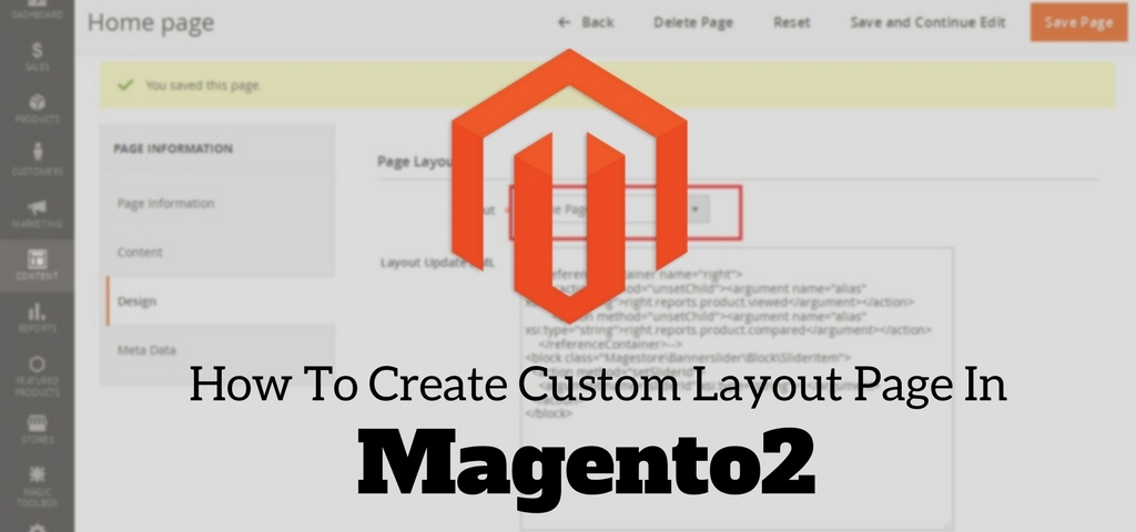 How To Create Custom Layout Page In Magento2