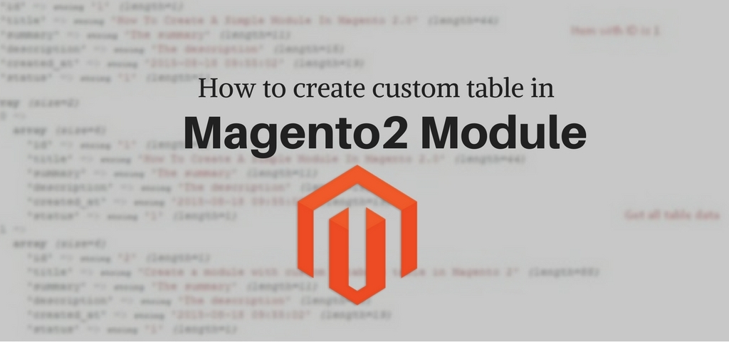 How to create custom table in magento2 module